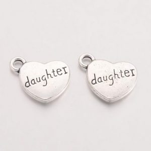 Daughter Charms - Silver Plated - Riverside Beads