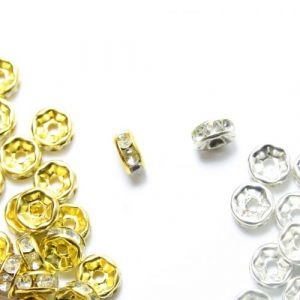6mm/8mm Diamante Rondelle Collection - Riverside Beads