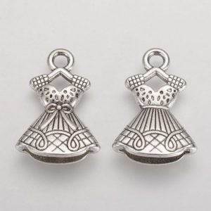 Dress Charms - Silver Plated - Riverside Beads