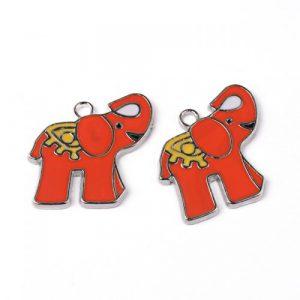 Enamel Elephant Charms - Riverside Beads