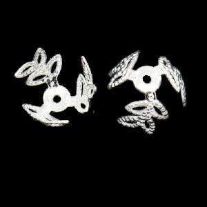 Silver Leaf Bead Cap - Riverside Beads