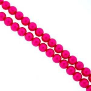 Glass Pearls - Fuchsia - 4mm, 6mm, 8mm - Riverside Beads
