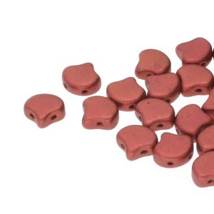 Ginko Beads Bronze Fire Red - 7.5mm - 10g - Riverside Beads