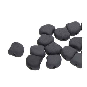 Ginko Beads Jet Matt - 7.5mm - 10g - Riverside Beads