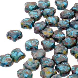 Ginko Beads Aqua Travertine - 7.5mm - 10g - Riverside Beads
