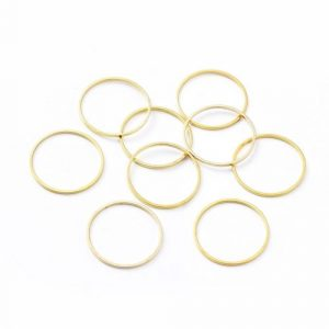 Connector Ring Gold Plated - Riverside Beads