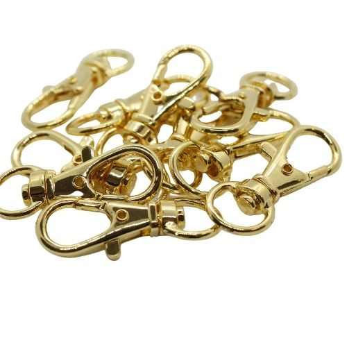 32mm gold plated bag charm - Riverside Beads