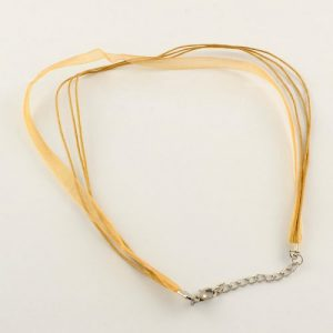 Ribbon Cord Necklace Gold - Riverside Beads