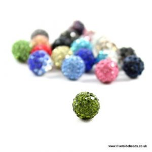 Green Crystal Clay Beads - Riverside Beads