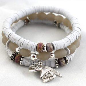 Boho Bracelet Collection - Grey-riverside beads
