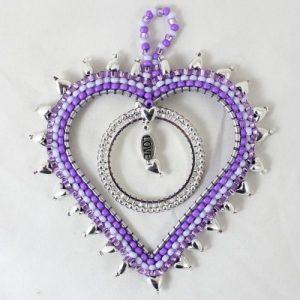 Beaded Heart Dream Catcher - Riverside Beads