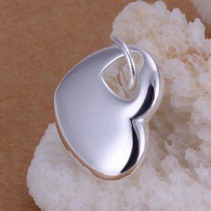 Heart in Heart Charm - Riverside Beads