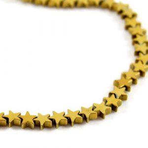 5mm Gold Hematite Stars - Riverside Beads