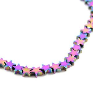 5mm Gold Hematite Star - Riverside Beads