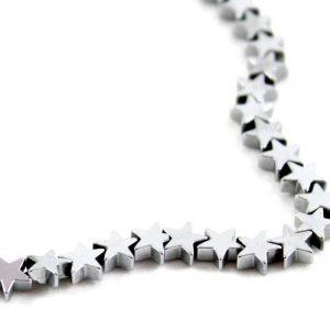 5mm Silver Hematite Star - Riverside Beads