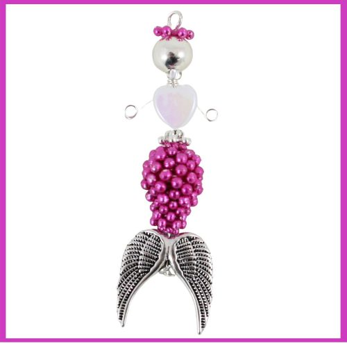 Coral Beaded Mermaid Charm-riverside beads