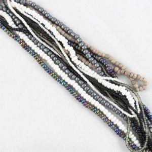 Glass and Seed Bead Strands - Humbug - Riverside Beads