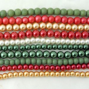 Winter Glass Bead Strands - Riverside Beads
