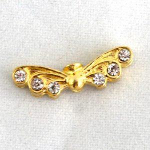 Gold Diamante Angel Wings-riverside beads