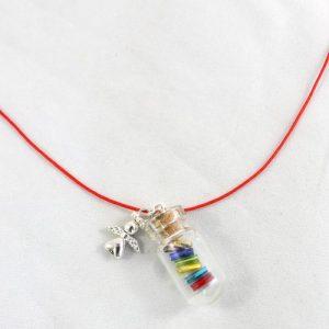 Rainbow Wish Angel Necklace-riverside beads