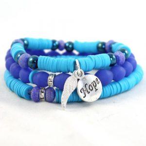 Boho Bracelet Collection Blue-riverside beads