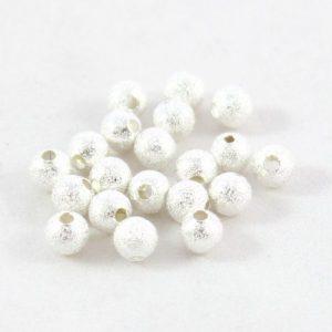 6mm Silver Stardust Bead - Riverside Beads