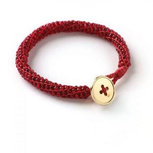 Loraine Insideout Bracelet - Red - riverside beads