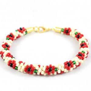 Julie Poppy Beaded Flower Kumihimo Kit-riverside beads