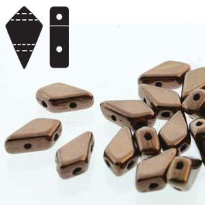 Kite Beads Jet Dark Bronze - 9x5mm - Riverside Beads