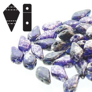 Kite Beads Silver Splash Cobalt TR - 9x5mm - Riverside Beads