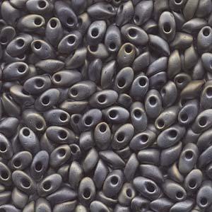 Long Magatamas Matte Metallic Silver Grey - Riverside Beads