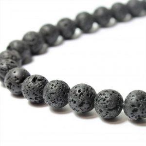 8mm Black Lava Bead - Riverside Beads