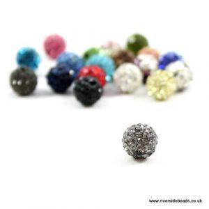 Grey Crystal Clay Beads - Riverside Beads