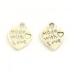 Made With Love Heart Charms - Riverside Beads