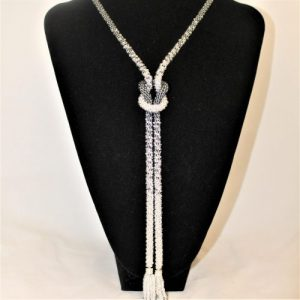 Silver Infinity Knot Beaded Necklace -riverside beads