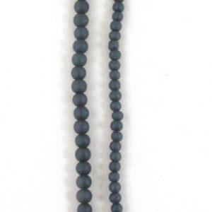 Stone Effect Glass Beads 6mm and 8mm - Dark Grey - Riverside Beads