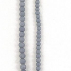 Stone Effect Glass Beads 6mm and 8mm - Grey - Riverside Beads