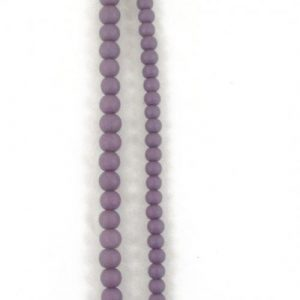 Stone Effect Glass Beads 6mm and 8mm - Purple - Riverside Beads