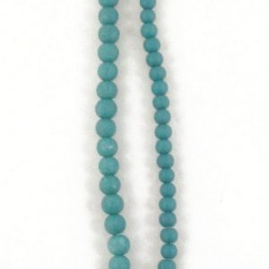 Stone Effect Glass Beads 6mm and 8mm - Teal - Riverside Beads