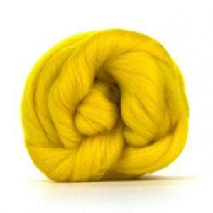 Merino Wool Top Buttercup - Riverside Beads
