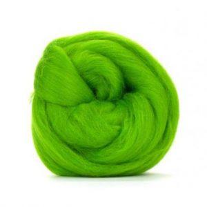 Merino Wool Top Chartreuse - Riverside Beads