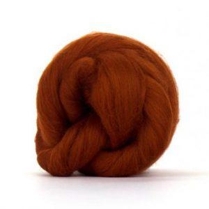 Merino Wool Top Rust - Riverside Beads