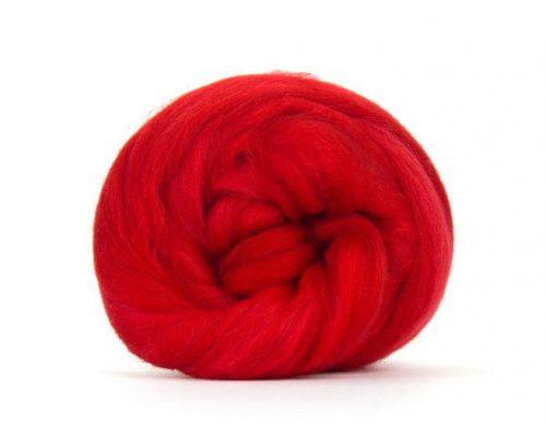 Merino Wool Top Scarlet - Riverside Beads