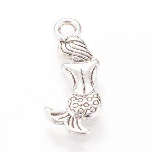 Silver plated mermaid charm - Riverside Beads
