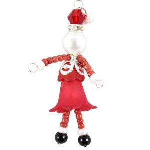 beaded Mrs Claus charms-riverside beads