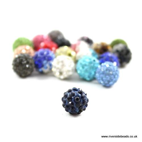 Navy Crystal Clay Beads - Riverside Beads