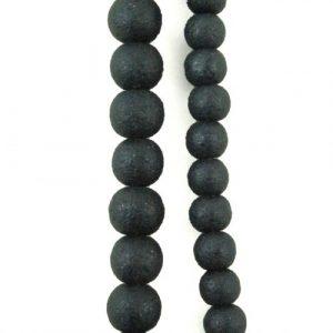Stone Effect Beads Black - Riverside Beads