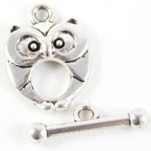 Silver Owl Toggle Clasp - Riverside Beads