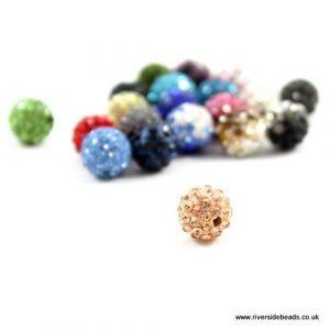 Peach Crystal Clay Beads - Riverside Beads