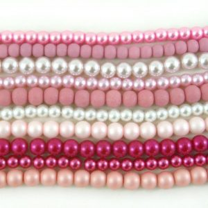 Shades of Pink Beads - Riverside Beads